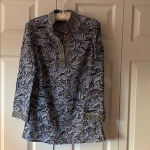 Tory Burch cotton tunic with embroidery - size 2